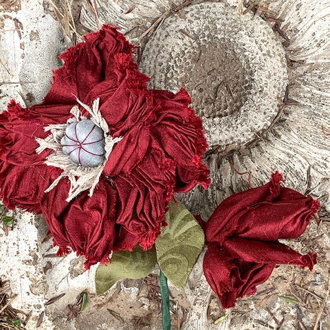 Virtual Pomegranate Poppy and Fleurette Workshop with Michele Muska