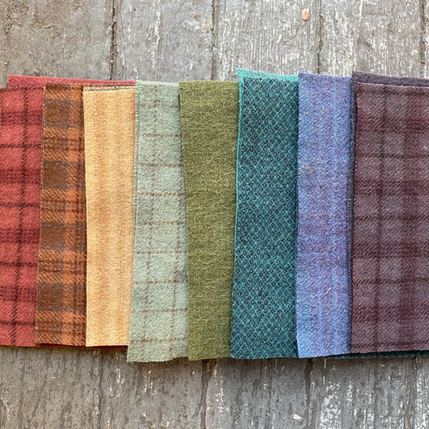 Hand-Dyed Wool Bundle