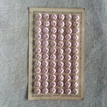 Antique French Silk Buttons - Pink