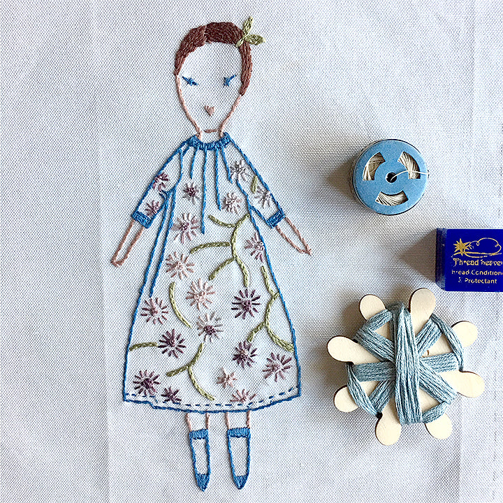 Petite Vivienne Embroidery Sampler Kit by Jess Brown