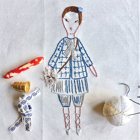 Petite Maude Embroidery Sampler Kit by Jess Brown