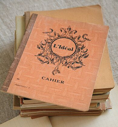 Antique French Student Notebook