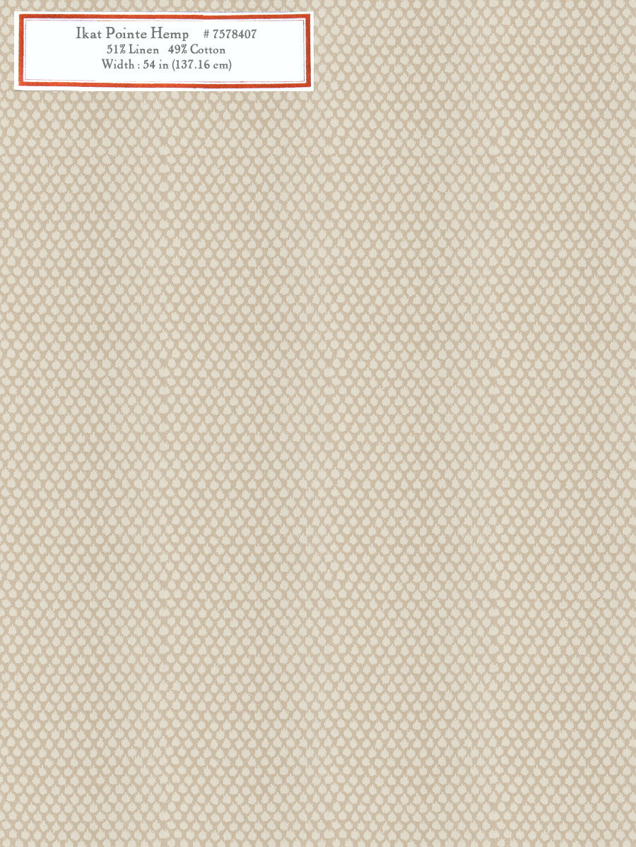 Home Decorative Fabric - Ikat Pointe Hemp