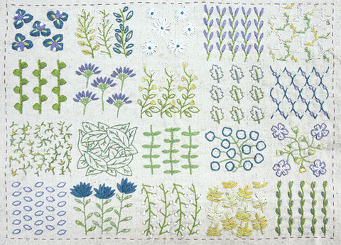Jardin De Fleurs Linen Embroidery Sampler  / Pre-Order May 2021 Delivery