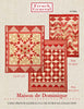 Moda French General La Vie En Rouge DOMINIQUE Quilt Pattern