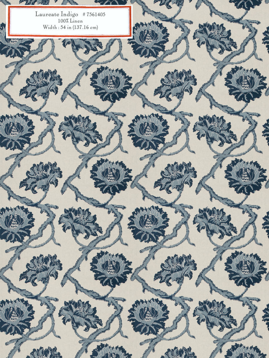 Home Decorative Fabric - Laureate Indigo
