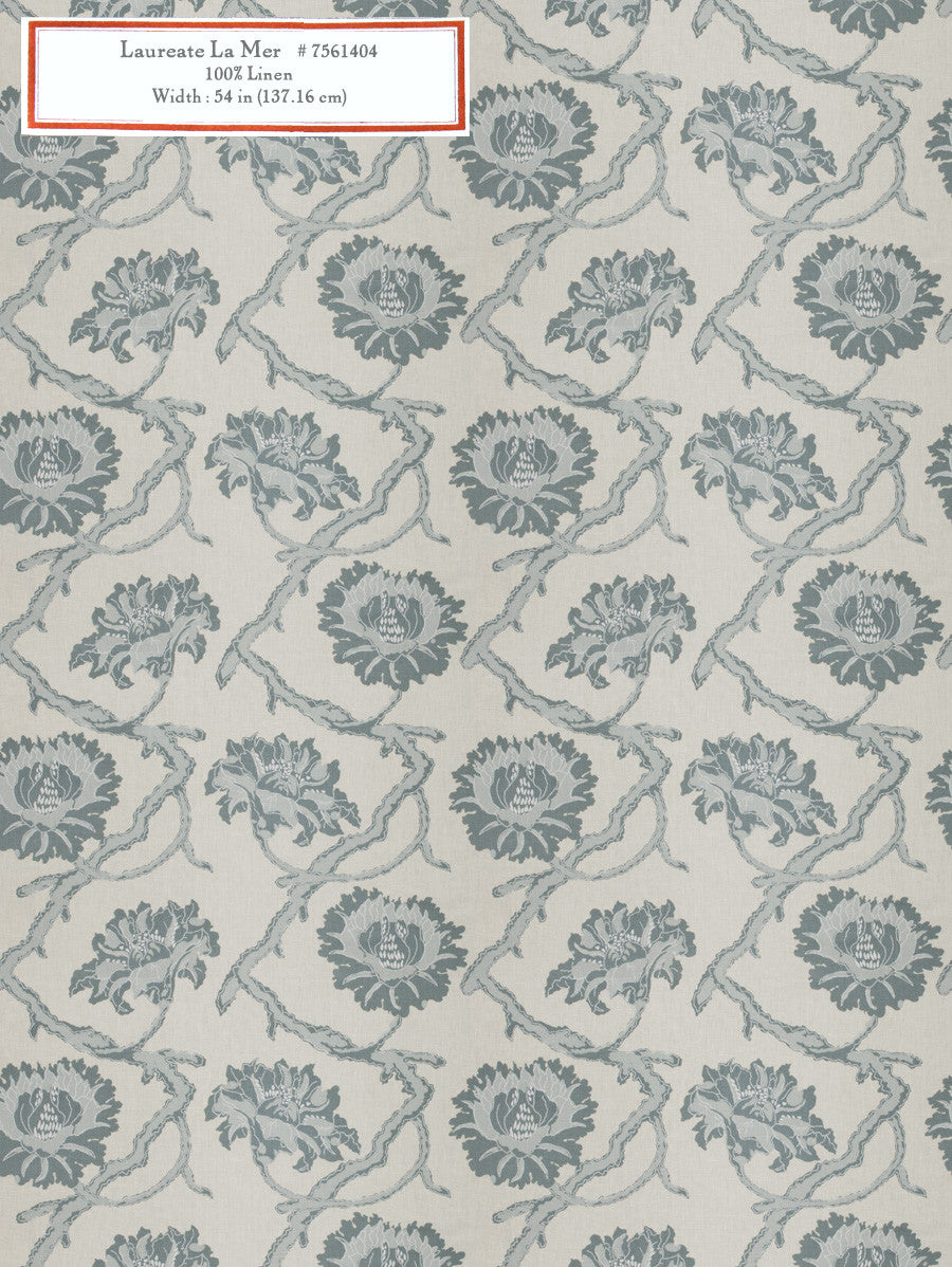Home Decorative Fabric - Laureate La Mer