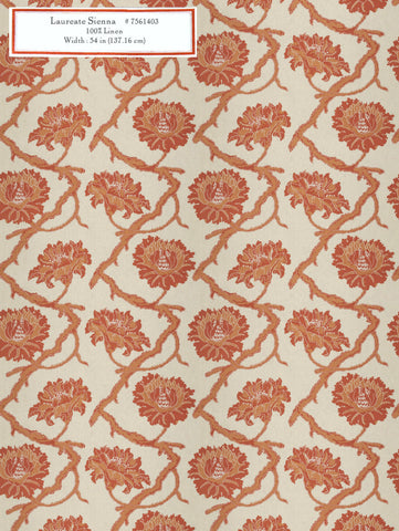 Home Decorative Fabric - Laureate Sienna