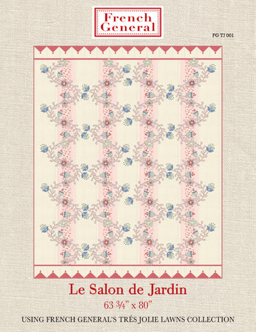 Tres Jolie Le Salon De Jardin Quilt Pattern Instructions