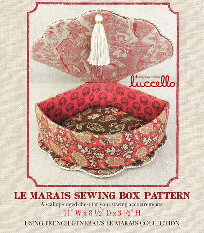 Le Marais Sewing Box Pattern
