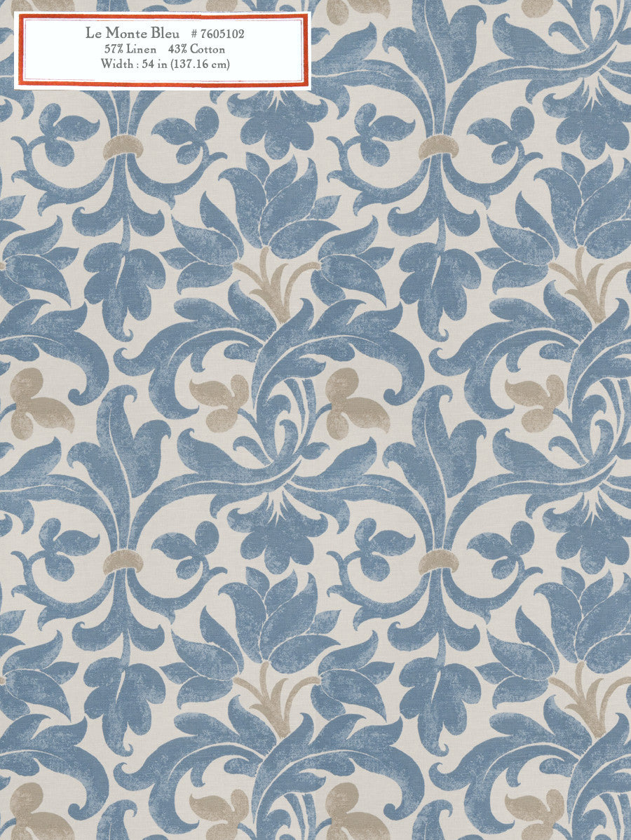 Home Decorative Fabric - Le Monte Bleu