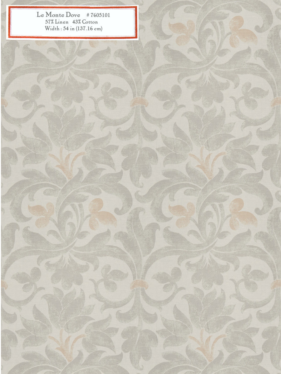 Home Decorative Fabric - Le Monte Dove