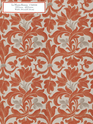 Home Decorative Fabric - Le Monte Sienna
