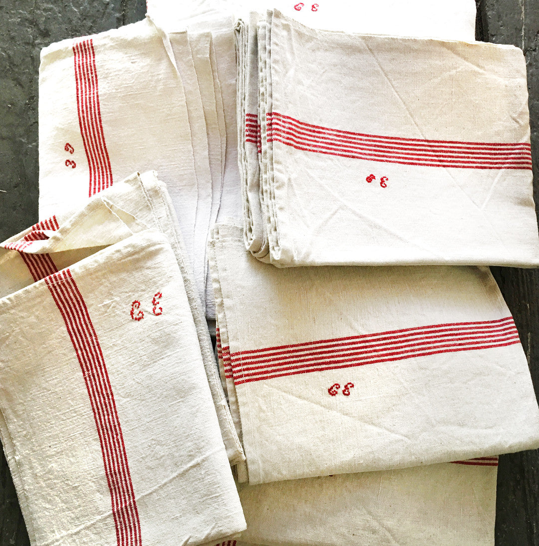 Tea Towel - CE Monogram