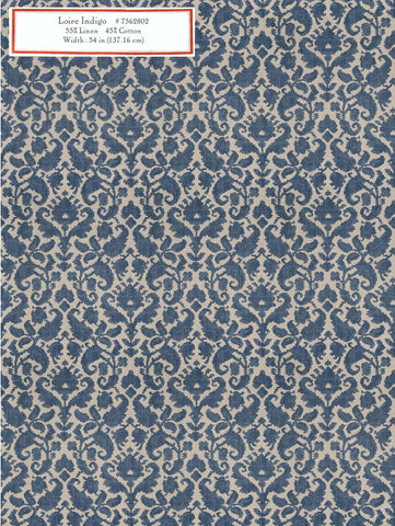 Home Decorative Fabric - Loire Indigo