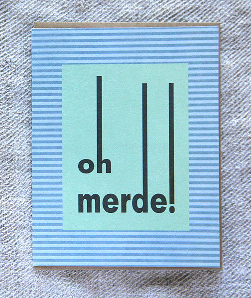 Greeting Card - Oh Merde!