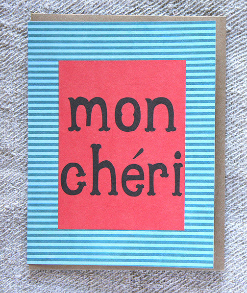 Greeting Card - Mon Cherie