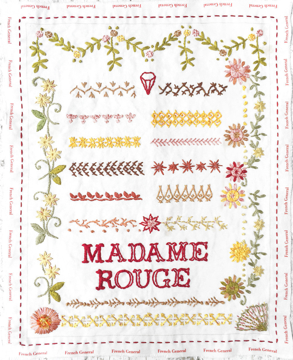 Madame Rouge Embroidery Sampler