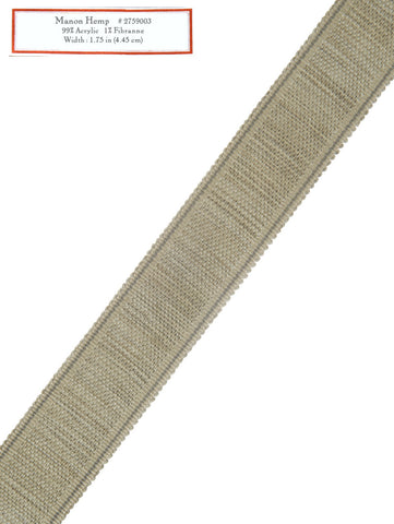 Home Decorative Trim - Manon Hemp