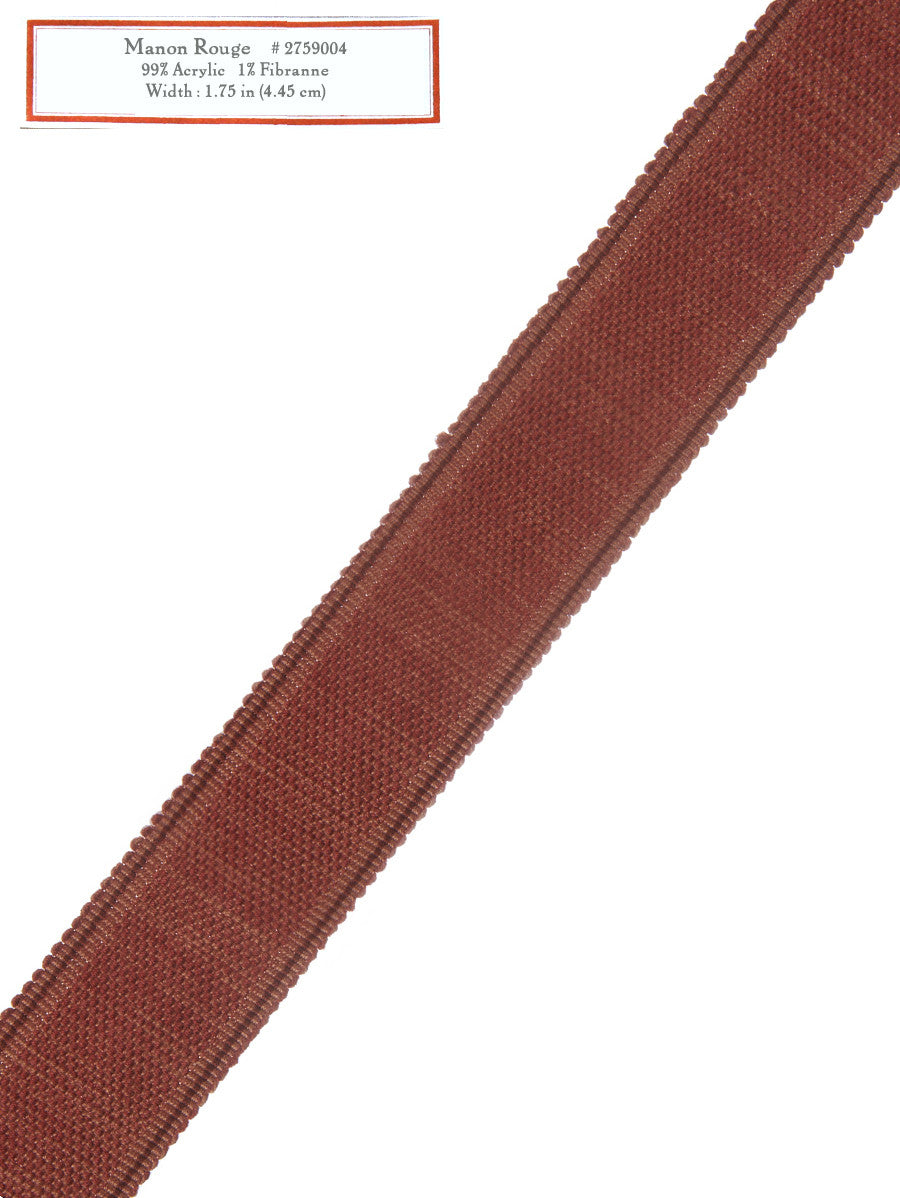 Home Decorative Trim - Manon Rouge