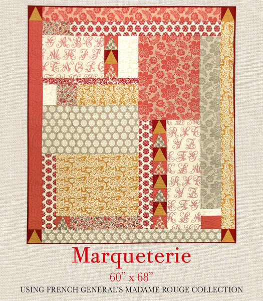 Madame Rouge Marqueterie Quilt Pattern French General