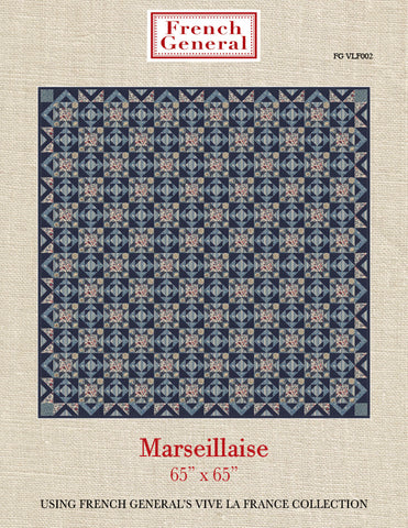Marseillaise Quilt Pattern  -  Vive La France Collection