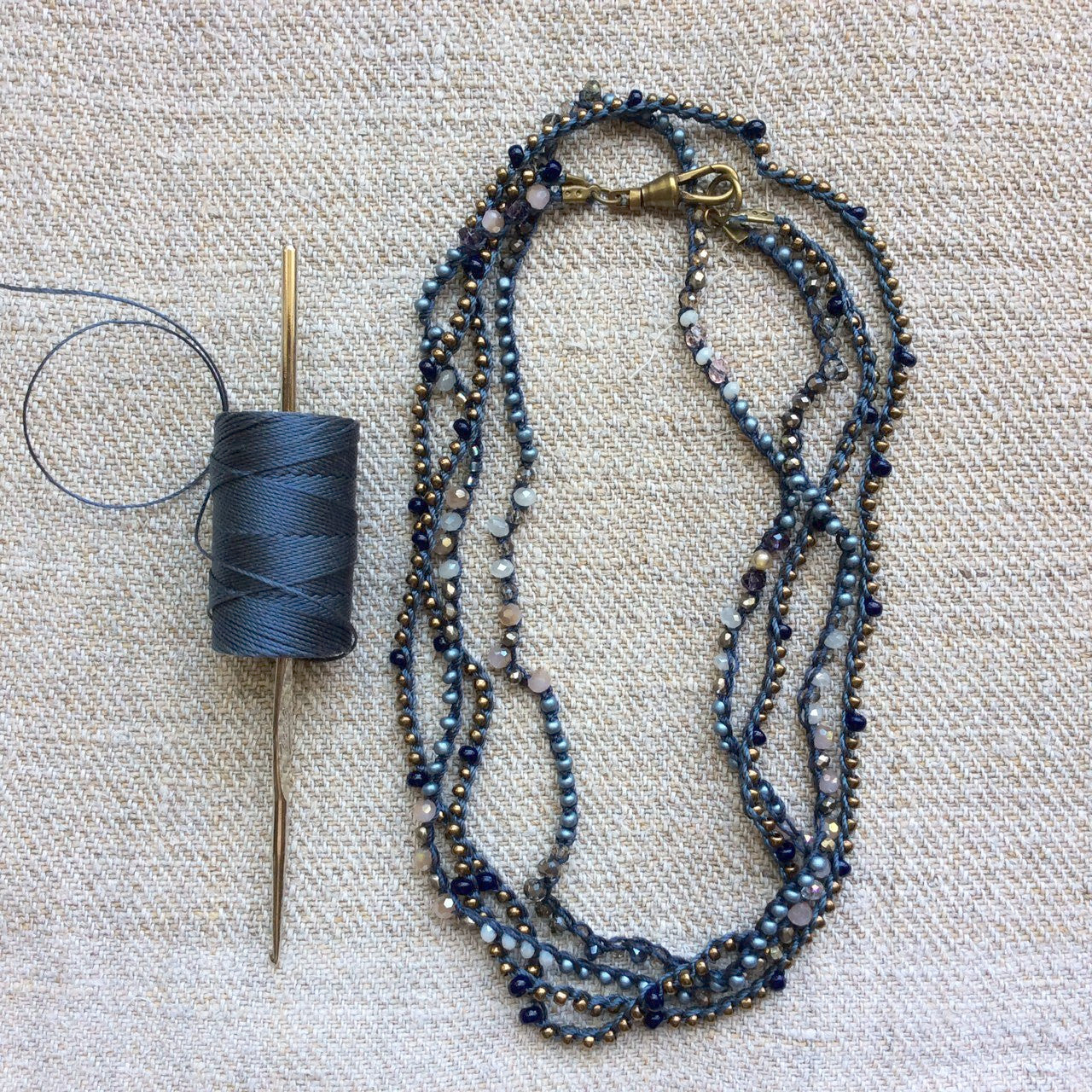 McKinney  Workshop - Crochet Beaded Jewelry Workshop / Monday, October 23rd 2017   10-1pm