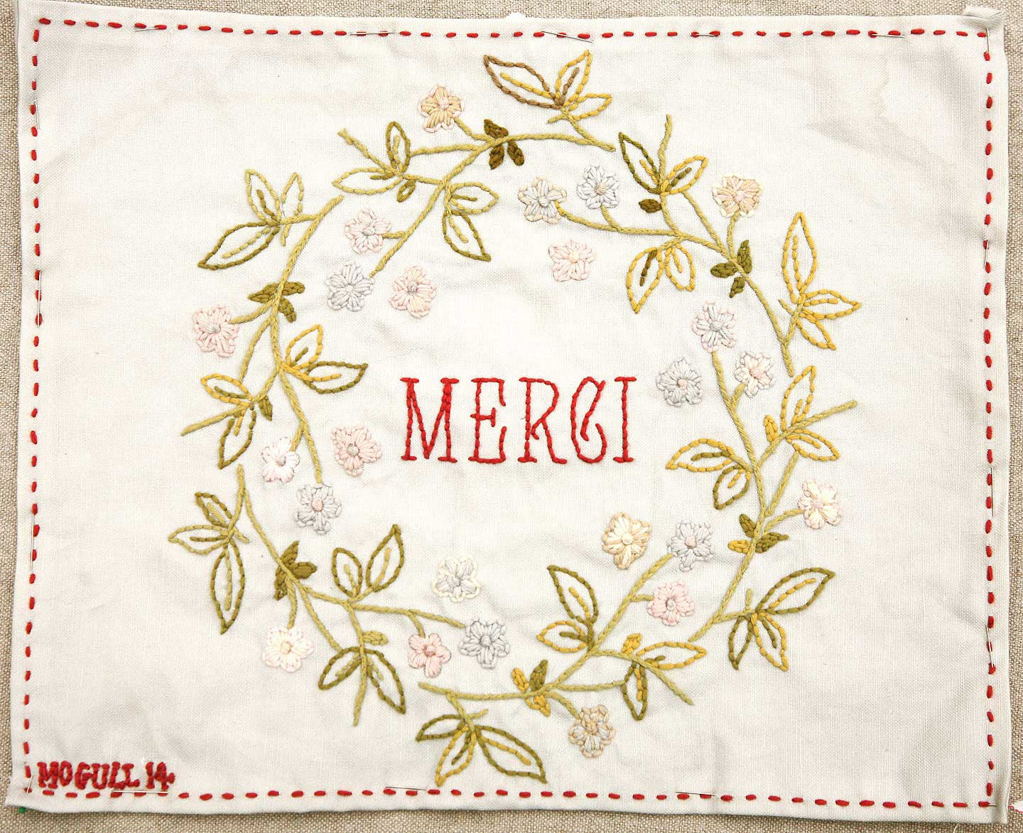 Merci Embroidery Sampler