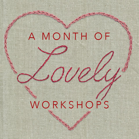 Live Zoom Workshop: Stitched Flower Tote with Kaari / Saturday, February 27th / 10-12 PST