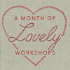 Live Zoom Workshop: Amour Embroidery Sampler with Mogull / Saturday, February 13th / 10-12 PST