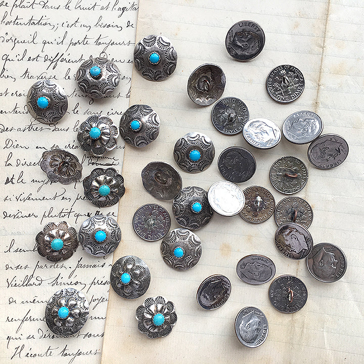 Navajo Silver Buttons