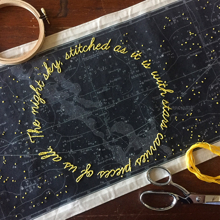 Night Sky Embroidery / Saturday, September 22nd / 10-1pm