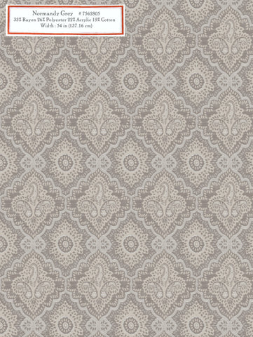 Home Decorative Fabric - Normandy Grey