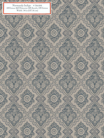 Home Decorative Fabric - Normandy Indigo