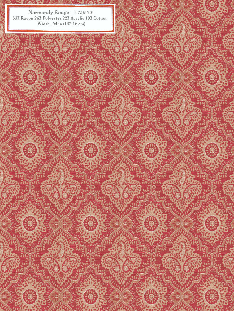 Home Decorative Fabric - Normandy Rouge