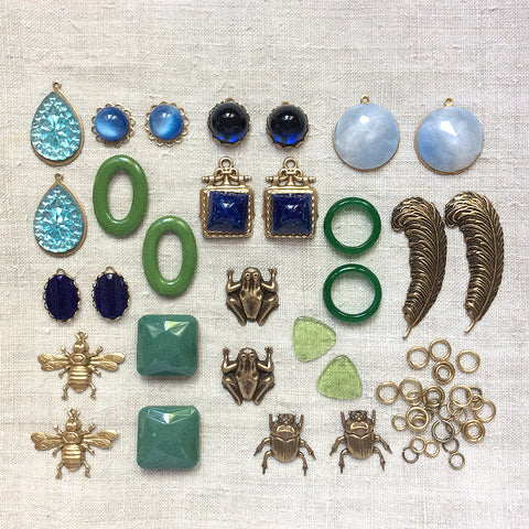 Vintage Blue Charms