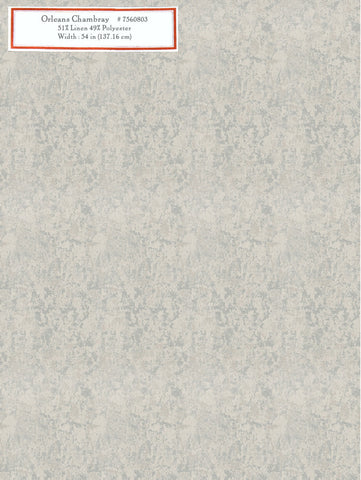 Home Decorative Fabric - Orleans Chambray
