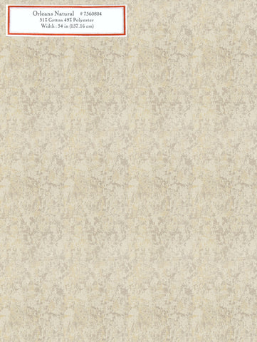 Home Decorative Fabric - Orleans Natural