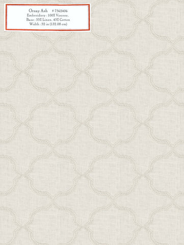 Home Decorative Fabric - Orsay Ash