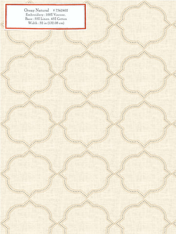 Home Decorative Fabric - Orsay Natural