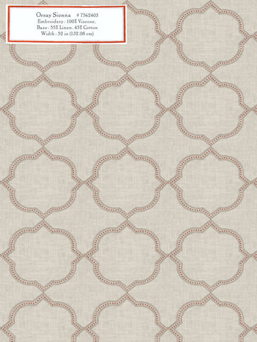 Home Decorative Fabric - Orsay Sienna