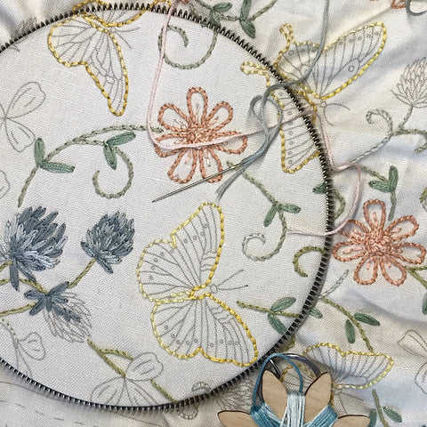 Le Beau Papillon Embroidery Sampler