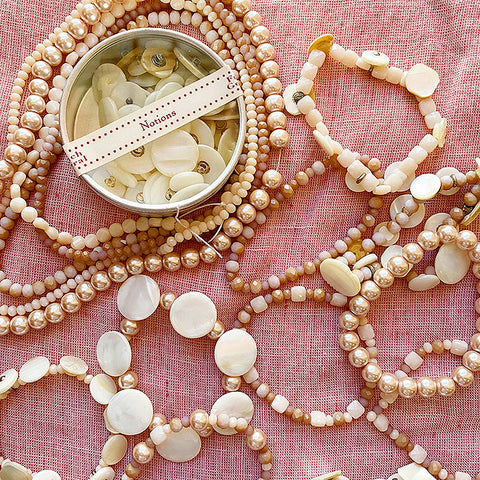 Mother of Pearl Button Bracelet Kit - Blush
