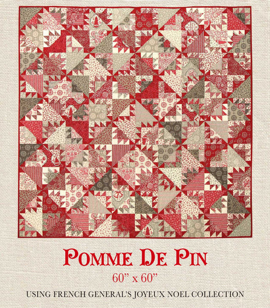 Joyeux Noel Pomme De Pin Quilt Pattern French General