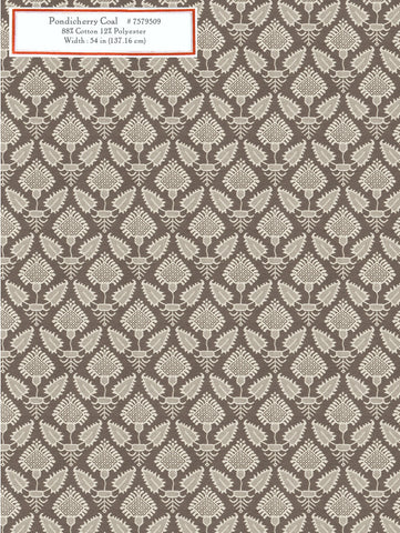 Home Decorative Fabric - Pondicherry coal