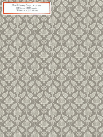 Home Decorative Fabric - Pondicherry Grey