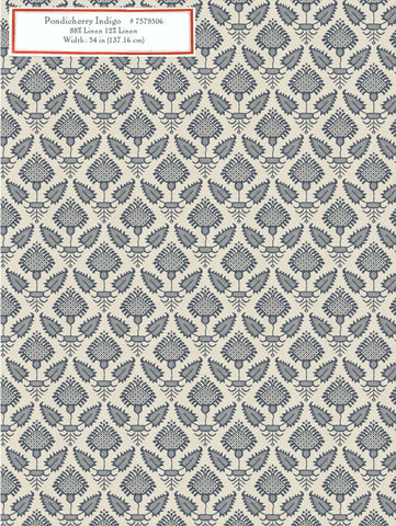Home Decorative Fabric - Pondicherry Indigo