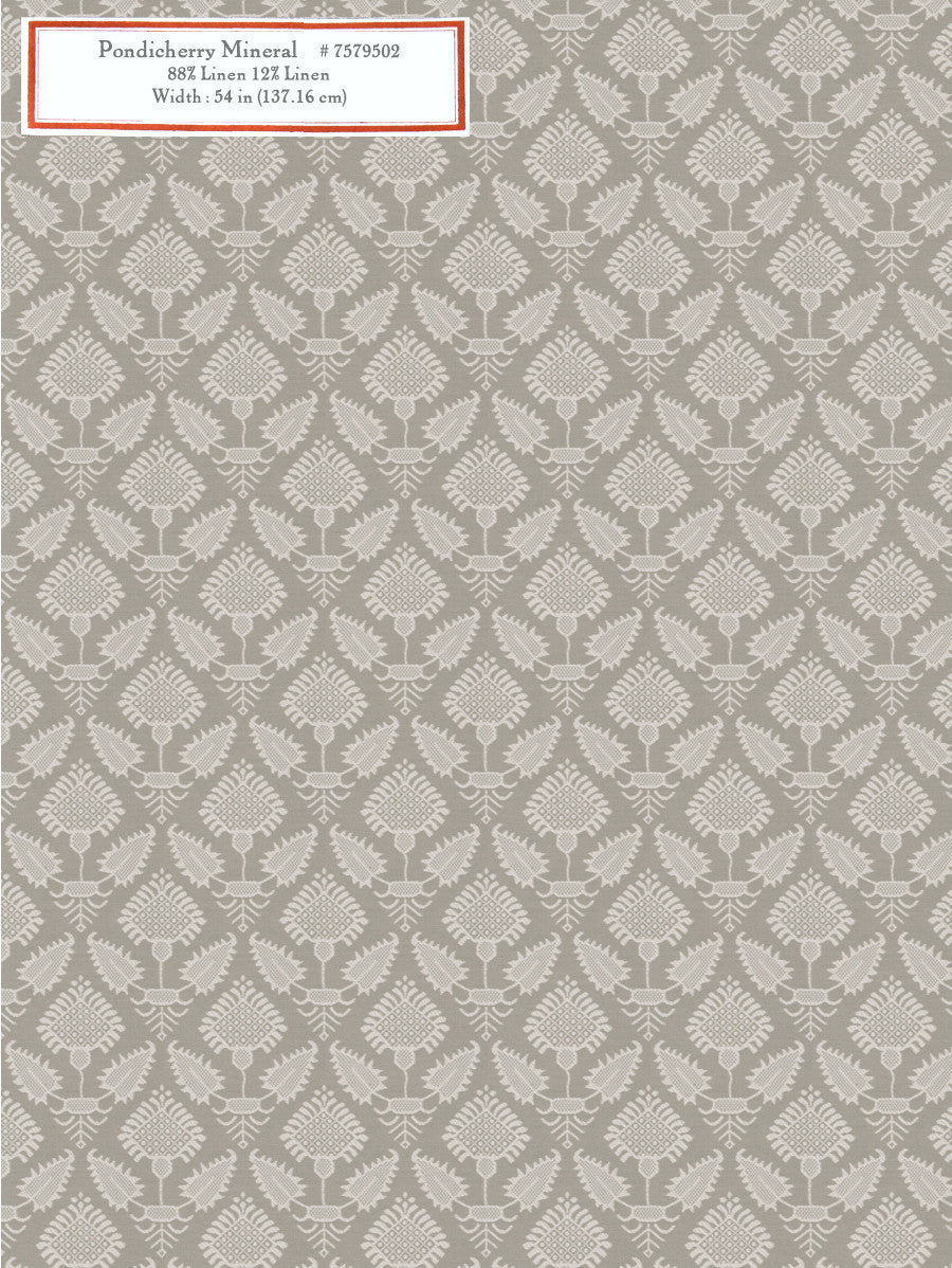 Home Decorative Fabric - Pondicherry Mineral