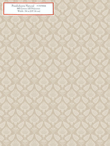 Home Decorative Fabric - Pondicherry Natural