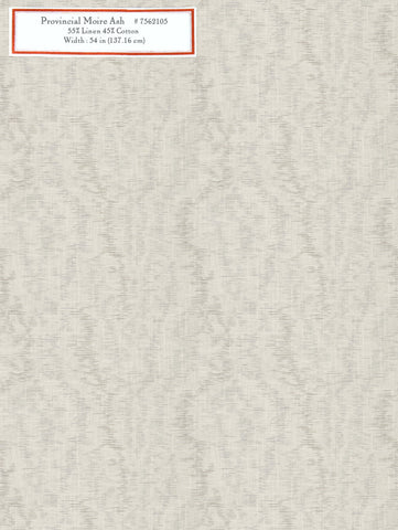 Home Decorative Fabric - Provincial Moire Ash